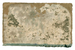 Old paper book cover on white. Royalty Free Stock Image