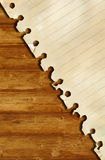 Old paper and brown wood texture Royalty Free Stock Image
