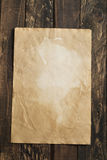 Old paper, brown wood texture Royalty Free Stock Images