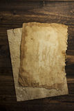 Old paper, brown wood texture Stock Photos