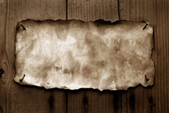 Old paper with burned edges Royalty Free Stock Photography
