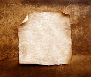 Old paper with burned edges Royalty Free Stock Images