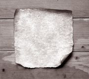 Old paper with burned edges Royalty Free Stock Photo