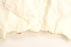 Old paper Burning art background. The Old paper Burning art background Stock Photos
