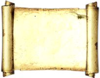 Old paper card, gold paper for writing, or background, illustration, scroll Royalty Free Stock Photography