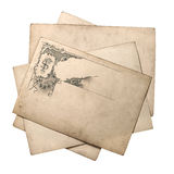 Old paper card with vintage ornate pattern Stock Photos