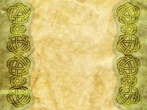 Old paper. With celtic pattern stock illustration