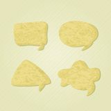 Old Paper Chat Speech Bubble Icons Royalty Free Stock Images