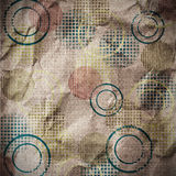 Old paper with circles Stock Images