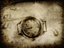 Old paper with clock texture. Abstract background Stock Photography