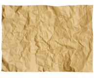 Old paper crumpled Stock Image