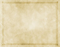 Old paper with decorative vintage border. Stock Photo