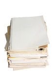 Old paper document Stock Photo
