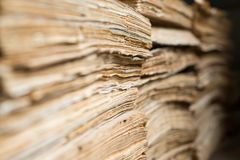 Old paper documents in the archive Royalty Free Stock Photo