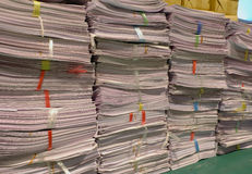 Old paper documents. Waiting for management stock images