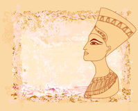 Old paper with Egyptian queen Royalty Free Stock Photography