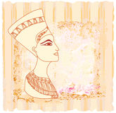 Old paper with Egyptian queen Royalty Free Stock Images