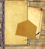 Old paper and envelope Royalty Free Stock Images
