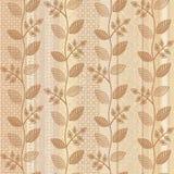 Old paper floral background vector illustration