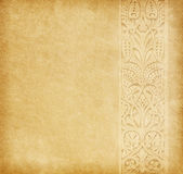 Old paper with floral border Royalty Free Stock Photography