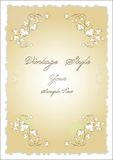 Old paper with floral design Royalty Free Stock Photo
