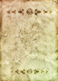 Old paper with floral dividers Royalty Free Stock Images