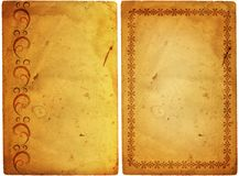 Old paper with floral frame Royalty Free Stock Images