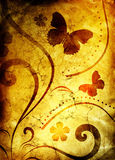 Old paper with floral pattern Royalty Free Stock Photos