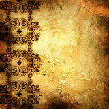 Old paper with floral pattern Royalty Free Stock Photo