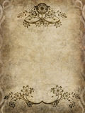 Old paper with floral pattern Stock Images