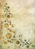 Old paper with floral pattern. Old paper with baroque floral pattern Stock Images