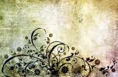Old paper with floral pattern Stock Photography