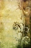 Old paper with floral pattern. Design for card or background Stock Images