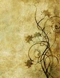 Old paper with floral pattern. Design for card or background Stock Photo