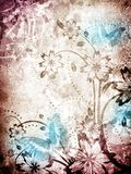 Old paper with floral pattern Royalty Free Stock Images