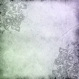 Old paper with floral pattern Royalty Free Stock Image