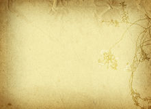Old paper flower textures Royalty Free Stock Photos