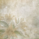 Old paper with flowers background. Royalty Free Stock Photography