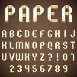 Old Paper Folded Font Royalty Free Stock Photography