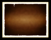 Old paper frame. Old grunge textured paper frame in black background Royalty Free Stock Photos