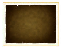 Old paper frame. Old grunge textured paper frame in white background Stock Photos