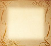 Old Paper On Frame  Ornament Royalty Free Stock Images