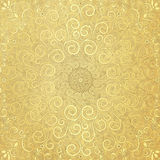 Old paper with gold  pattern Stock Photo