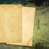 Old paper on grunge background Royalty Free Stock Images