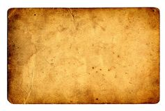 Old paper grunge background. Isolated on white Royalty Free Stock Images