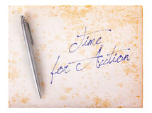 Old paper grunge background - Time for action. Old paper grunge background, white and brown - Time for action royalty free stock photo