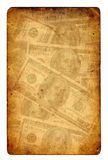 Old paper grunge dollar background Stock Images