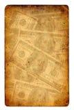 Old paper grunge dollar background stock images
