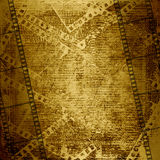 Old paper and grunge filmstrip Royalty Free Stock Images