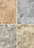 Old paper grunge textures set Royalty Free Stock Photography